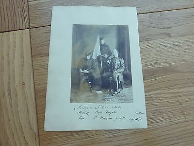 1871 Original Photo British Army Officers Named With Some Research 6 X 4 Inch