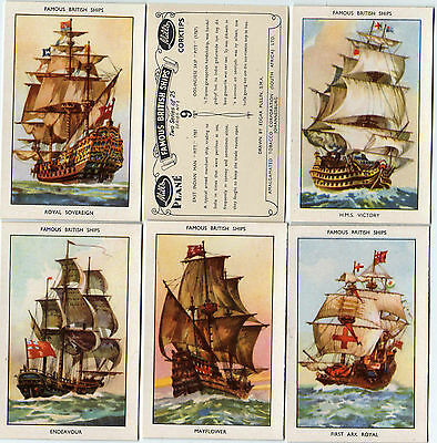 Cigarette cards, Famous British Ships 1952 series 1, Mint