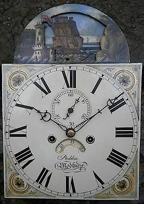 12x17  inch   8DAY c1850 LONGCASE  CLOCK dial + movement