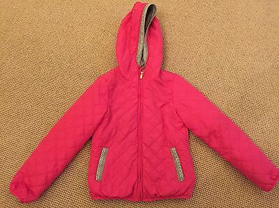 Girls Pink Quilted Jacket Age 7-8