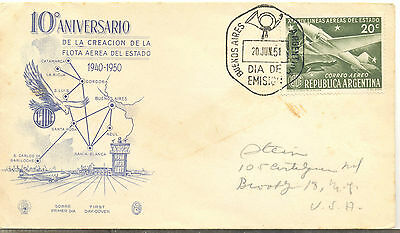 Argentina attractive illustrated 1951 first day cover