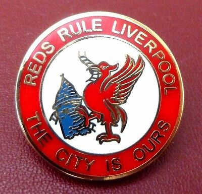Liverpool 'this City Is Ours' Enamel Football Badge