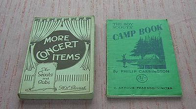 Vintage Scouting Books 2 More Concert Items 1932 Boy Scouts Camp Book 1948