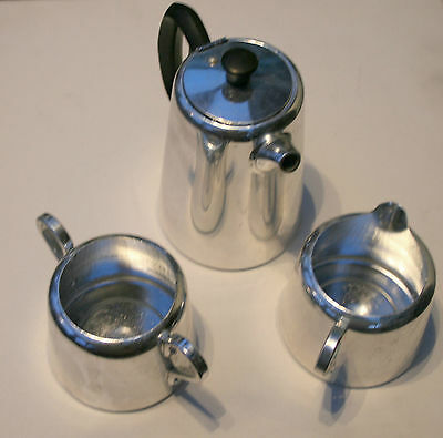 Towerbrite Stainless Coffee Set And Additional Teapot
