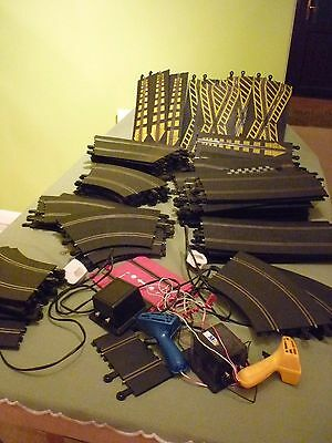 Large Used Scalextric Vintage Classic Huge Set Of Track Pieces Set Up Job Lot