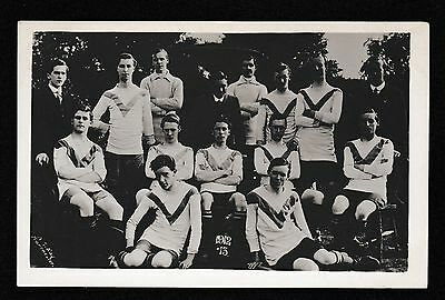 Glossop Football Club 1912 - 1913 Real Photographic Postcard N S Kay Manchester