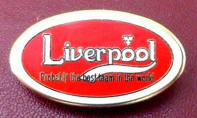 Liverpool 'probably The Best Team In The World' Enamel Football Badge