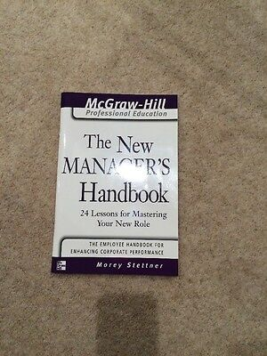 The New Manager's Handbook, Paperback Book
