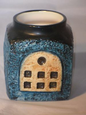 Troika Marmalade Pot Blues Ect! Decorated By Jane Fitzgerald 1977-1983 VGC