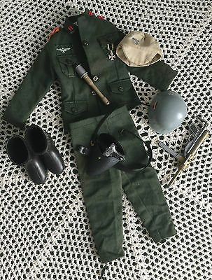 VINTAGE ACTION MAN GERMAN STORM TROOPER UNIFORM IRON CROSS MEDAL PALITOY 1970s