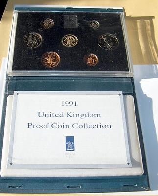 Royal Mint 1991 UK Proof Coin Collection 7 Coin Set
