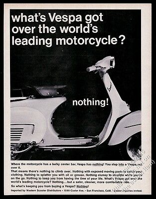 1966 Vespa scooter moped photo Vespa Has Nothing vintage print ad