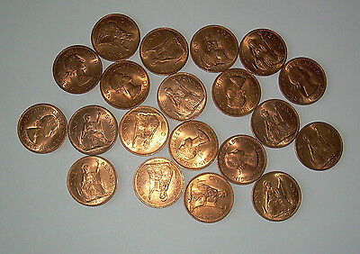 English penny 1967 Job lot collection x 20 uncirculated Mint Copper