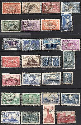S36 France Lot 28 Timbres Obliteres