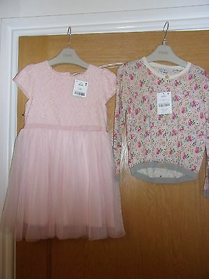 Next Girls Dress And Cardigan Bnwt - Age 3-4