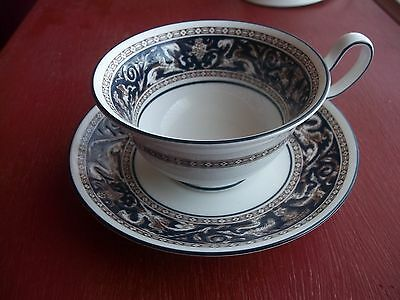 Wedgwood FLORENTINE BLUE cup and saucer