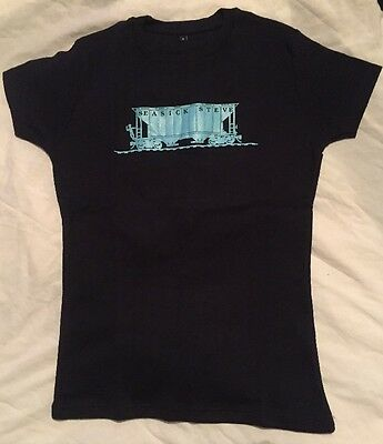 Brand New Girls Dark Blue Seasick Steve Tshirt Size Small Blue Train