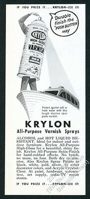 1958 Krylon spray paint spraypaint can painting boat art vintage print ad