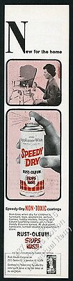 1966 Rustoleum Rust-Oleum spray paint can photo vintage print ad