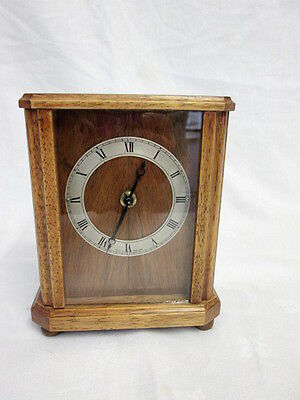 A Small Smiths Hard Wood Mantel/Timepiece Clock
