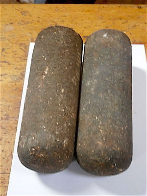 GOOD pair of LONGCASE GRANDFATHER Clock IRON weights 1790