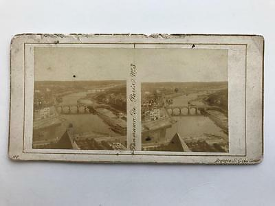 Early Stereoview 1850s Panorama View of Paris France