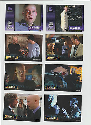 Lot of 8 Smallville TV show trading cards, Pub. 1992