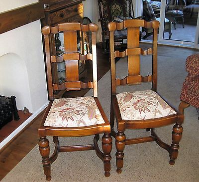 A Pair of Oak Arts and Crafts Chairs.  FREE LOCAL DELIVERY