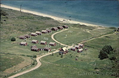 1989 Block Island RI Looking Down upon Cutting Cottages Washington County Chrome