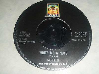 "Stretch Why Did You Do It / Write Me A Note 7"" Vinyl Single 16 528 AT Funk 5/3"