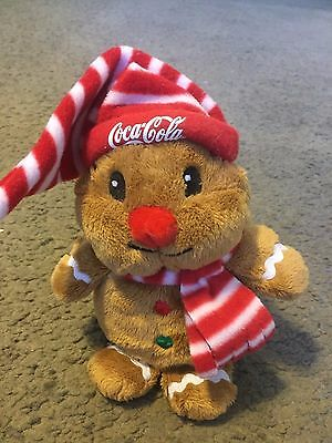 Coca Cola Coke Gingerbread Man plush stuffed collectible toy 2009 collectible