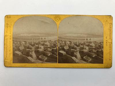 Early Stereoview 1867 View of Paris Exhibition by Leon & Levy France
