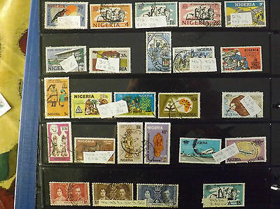 Selection of Nigeria stamps FU