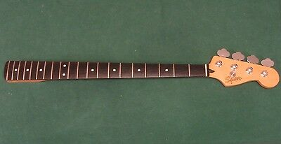 Loaded 1998 MIM Fender Squier Jazz Bass Guitar Neck - Made In Mexico