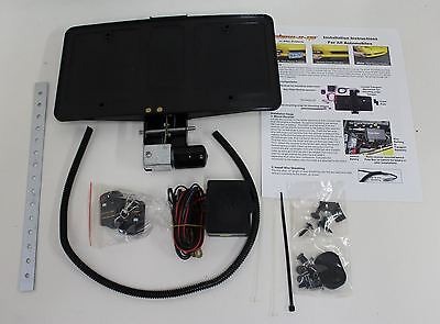 BNIB ROUSH ELECTRIC Hide-Away Retractable Remote Controlled License Plate