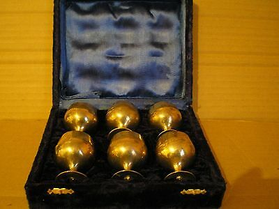 Vintage Mini Goblets Epns In Velvet Case