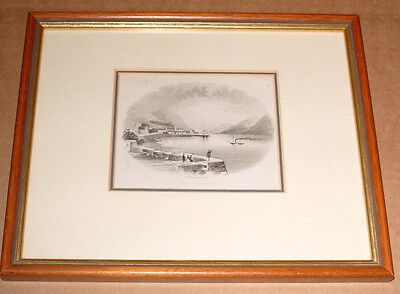 Old Victorian Framed Etching of Fort William - by W Banks and Son
