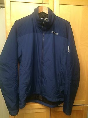 Men's Arcteryx Arc'teryx Windstopper Insulated Coat Jacket Blue Large