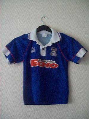 Cardiff City Home Shirt  - Boys Size 26 inch Chest