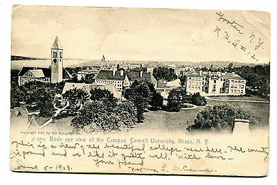 PPC Birds eye view of the Campus, Cornell University, Ithaca, NY. Used 1908