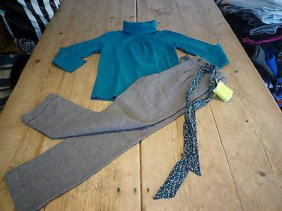 NEW!! Super Cute TAPE A L'OEIL French Designer Trousers & Top Outfit Set, 6 yrs