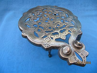 Vintage ~ Ornate Beetle Brass Trivet