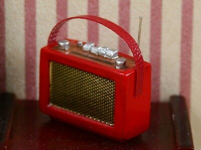 Red Radio -  New In Packet - 1.12 Scale Accessory For The Dolls House