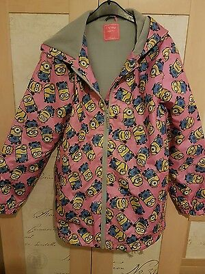 Girls Minions hooded raincoat age 14 years from Next
