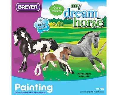 My Stablemate Dream 3 Horse Stallion, Mare & Foal Family Painting Kit #4157 NIB!