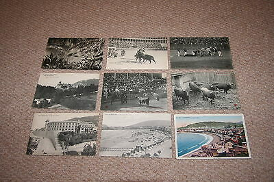 A collection of Spain postcards from the 1900s.