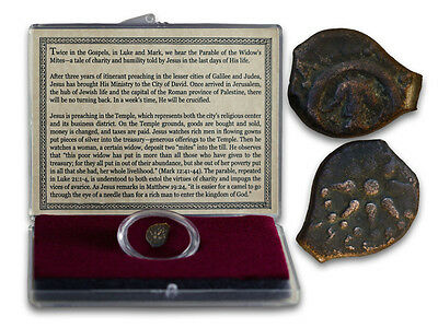 "1 - ANCIENT ROMAN COIN ""LEPTON WIDOW'S MITE"" as in the Bible in Display Box  COA"