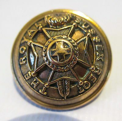 British Army Officers Military Button Royal Sussex Regiment