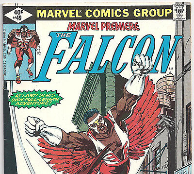 Marvel Premiere #49 with The Falcon & Redwing from Aug. 1979 in Fine condition
