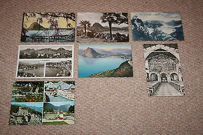 A collection of Lugano postcards from the 1900s.